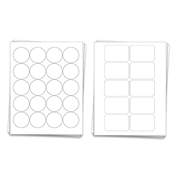 picture relating to Mason Jar Printable called Dashleigh Printable Blank Mason Jar Labels for 40 Jars and Lids, Weatherproof White Vinyl, for Inkjet and Laser Printers