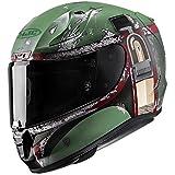 HJC Helmets Unisex-Adult Full-Face-Helmet-Style Pro Boba Fett Motorcycle Helmet (Green/Red, Large)