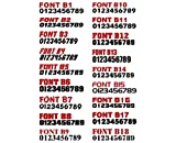 """3"""" by 20"""" Pair of Registration Number Decals"""