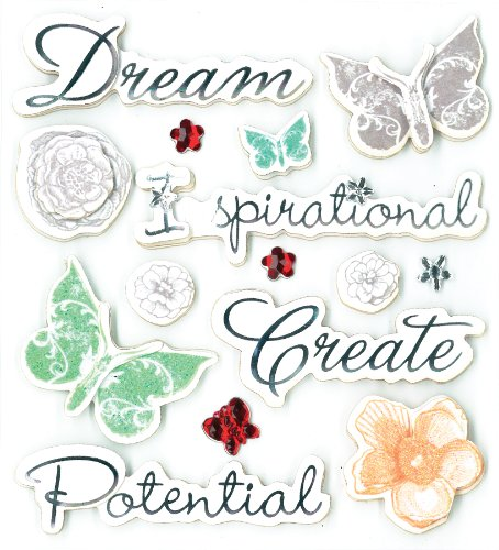 (K&Company Inspirational Sentiments Grand Adhesions Stickers)