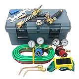 8milelake Victor Type 250 System Heavy Duty Gas Welding and Cutting Set, G250-60-510LP Fuel Gas Regulator, G250-150-540 Oxygen Regulators