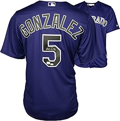 Carlos Gonzalez Colorado Rockies Autographed Purple Replica Jersey - Fanatics Authentic Certified - Autographed MLB Jerseys