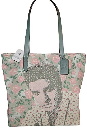 Coach Women's Elvis Floral Canvas Tote No Size (Sv/Chalk Multi)