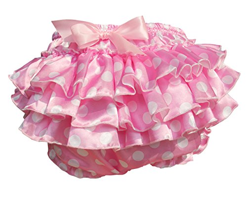 Haian ABDL PVC & Satin Ruffle Rhumba Pull on Plastic Pants (Large, Pink)