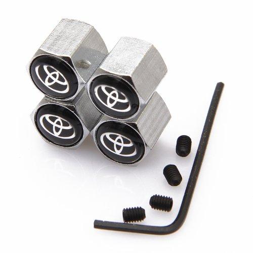D&R® Anti-theft Wheel Tire Valve Stem Caps For Toyota ()