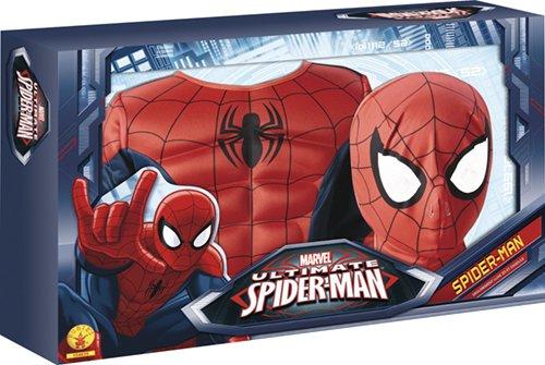 Marvel - Disfraz de Spiderman para niño, pecho musculoso y máscara, infantil 3-4 años (Rubies 887697-S): Amazon.es: Juguetes y juegos