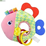 Bluestercool2018 Newborn Baby Infant Animal Soft Rattles Teether Hanging Bell Plush Bebe Toys