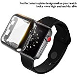 UBOLE Case for Apple Watch, UBOLE iWatch Screen Protector Soft Plated TPU All-Around Ultra-Thin Cover for Apple Watch Series 1, Series 2, Series 3, Nike+, Edition (Black, 42mm)
