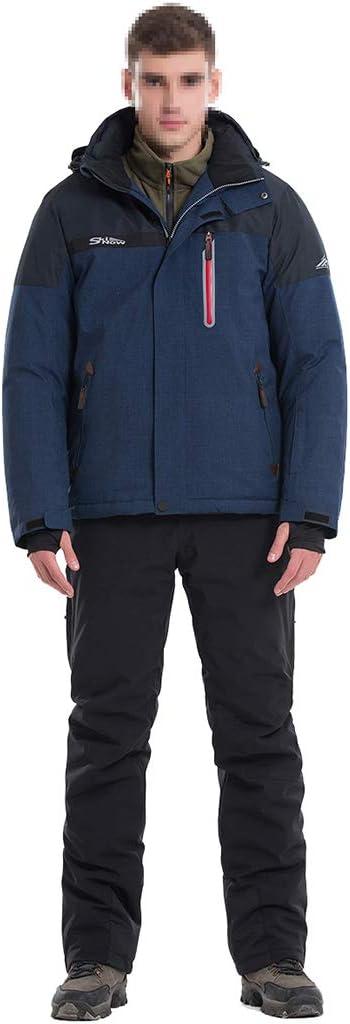 linannau メンズスキージャケットスノーボード防水防風スノージャケットゼロコート (Color : ブルー, サイズ : XXXL) ブルー XXXL