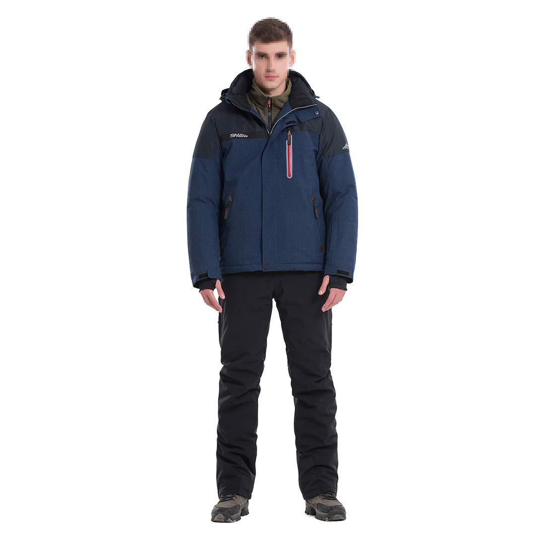 メンズスキージャケットスノーボード防水防風スノージャケットゼロコート (Color : ブルー, サイズ : XXL) ブルー XX-Large