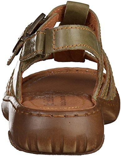 Josef Seibel Damen Sandalen - Debra 27 - Oliv Schuhe in Übergrößen Oliv