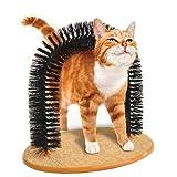 S-Lifeeling Multi-Function Purrfect Tv Arch Cat Self Groomer Massager Cat Brush Scratch Board Pet Scratcher Fur Wool Fur Artifact Shedding Toys