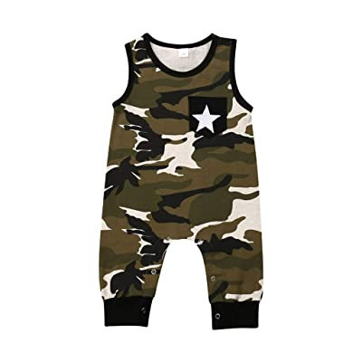 Infant Toddler Baby Boys Girls Romper Camouflage Jumpsuit One-Pieces Camo Outfits Sister Suit: Clothing