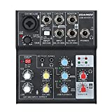 Aokeo Sound Card Audio Mixer, USB Audio Interface, 48V Phantom Power Supply For Condenser Mic - Record On The Computer/Laptop/Macbook/Etc. (Mixer - 5)