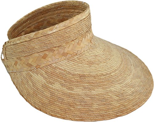 Handmade Palm Sun Hat Visor for Women Made in Mexico (Natural)
