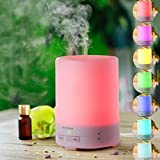 Aromatherapy Essential Oil Diffuser Ultrasonic Diffusers Cool Mist Humidifier with 7 Colors LED changing Lights, 300 mL water capacity and Waterless Auto Shut-off for Home Office Bedroom Room