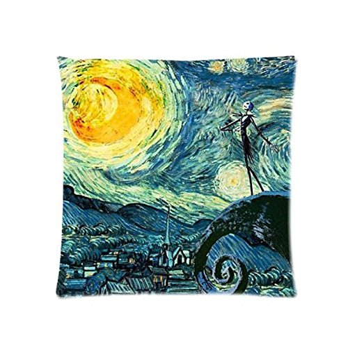 CHITOP Nightmare Before Christmas | Starry Night The Nightmare Before Christmas Square Throw Pillowcase for Living Room Bed Room Great Gift for Friend -