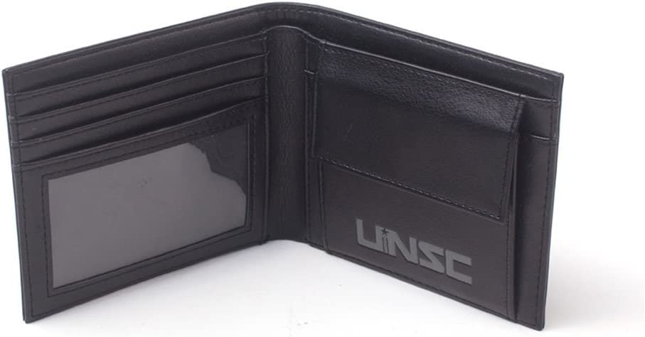 Black 16 cm Bioworld Halo UNSC Logo Bi-Fold Wallet Noir MW571638HLO Black Porte-Monnaie
