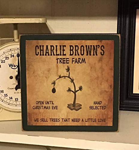 Amazon Com Woodensign Primitive Decor Charlie Brown S