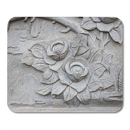 - Emvency Mouse Pads Sculpture Stone Granite Carving in Chinese Temple Flower Architecture Mouse Pad for notebooks, Desktop Computers mats 9.5