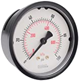 NOSHOK 100 Series ABS Dual Scale Dial Indicating Pressure Gauge with Back Mount, 2-1/2
