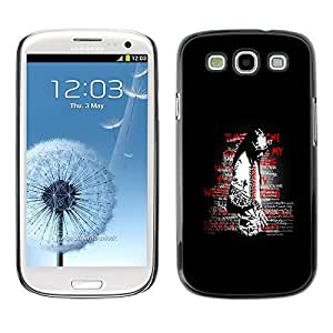 GagaDesign Phone Accessories: Hard Case Cover for Samsung Galaxy S3 - Street Art Message