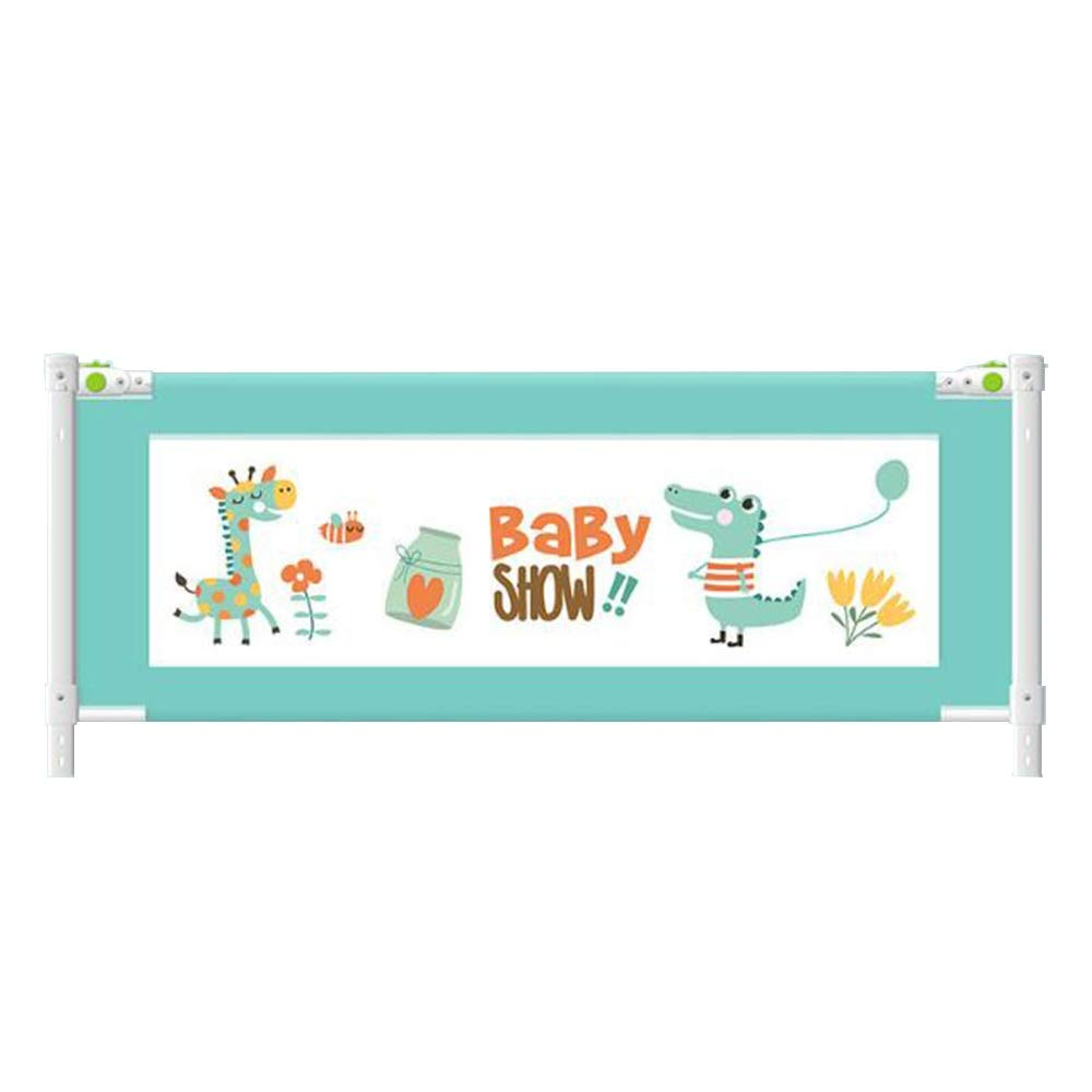 XIAOMEI,ベッドフェンス ベッドレールベッドガード保護安全幼児落下保護ベッドレールシュリンクイージーフィットセーフティレール用幼児 - 子供 - 子供120-150-180-200-220cm 家庭、屋外で使用されます (色 : 青, サイズ さいず : 220cm) 220cm 青 B07S9DYT12
