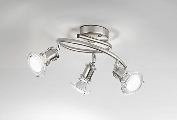 Plafoniere A Tetto : Plafoniera in cromo spazzolato lampada da parete e soffitto