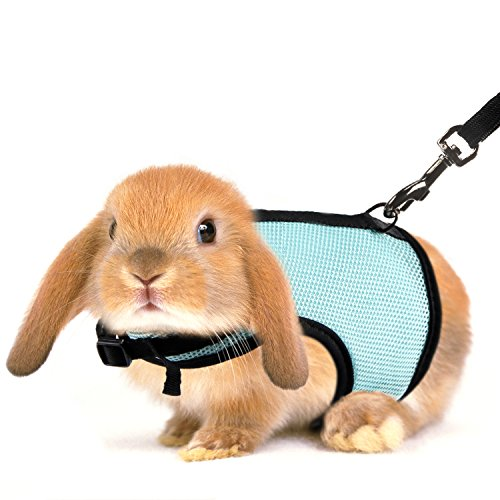 (MEWTOGO 2 pcs Adjustable and Breathable Bunny Leash and Harness with M and L)