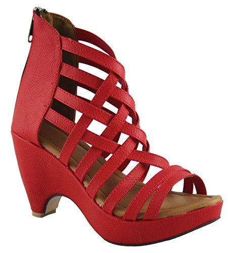 e08e7b66b73 Cute Fashion Women s Red Fashion Sandal -7  Buy Online at Low Prices ...