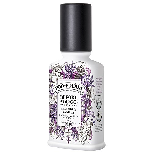 Bottle Purpose Spray (Poo-Pourri Before-You-Go Toilet Spray 4 oz Bottle, Lavender Vanilla Scent)