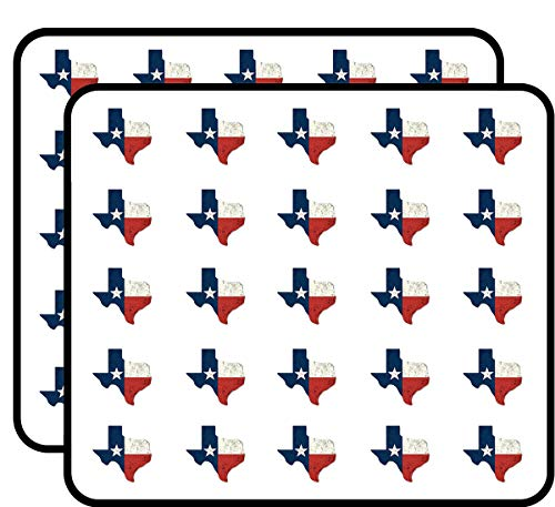 Distressed Texas Shaped Flag (tx Vintage Shape) Sticker for Scrapbooking, Calendars, Arts, Kids DIY Crafts, Album, Bullet Journals