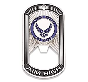 Air Force Challenge Coin - Dog Tag - Bottle Opener Coin - Designed by Military Veterans - Officially Licensed Product - Coins for Anything from Coins For Anything Inc