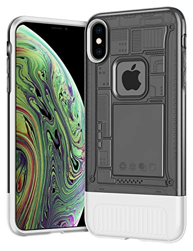 AEMOTOY Case for iPhone Xs Max Anti-Slip Grip Slim Fit Shock-Absorption iPhone Xs Max Case Dual Layer Hard Translucent PC Back Protective Soft Inner Cover for iPhone Xs Max (2018),6.5 inch - Black