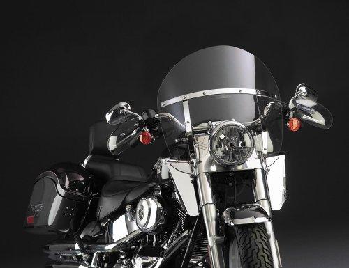 National Cycle Switchblade Chopped Windshield For Honda VTX 1800 2002-2008 ::Yamaha Road Star 1999-2003 / Royal Star 1996-1998 - Smoke - N21408