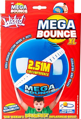 Wicked Wicked Wicked Mega Bounce Ball Xl Red Or Blue