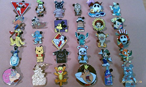 Disney Trading Pins-Lot of 25-No Duplicates-LE-HM-Rack-Cast by Ale'x New by Unknown