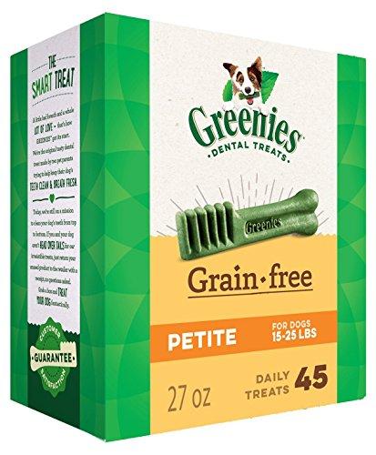 (27 OZ, Greenies Grain Free Dental Chews Petite Size for Dogs)