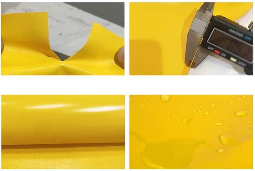 ZXPWL Lona Acampar al Aire Libre Lona Pesada Refuerzo de Lona Lona Caliente Gruesa PVC Lona Impermeable Lona Impermeable,Amarillo,2x1.5m