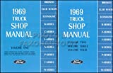 COMPLETE 1969 FORD TRUCK & PICKUP REPAIR SHOP & SERVICE 2 BOOK SET OF 4 MANUALS - F100 F150 F250 F350 F500 F600 TO F7000, WT-Series, L-Series, LN-series, N-Series, HT-Series