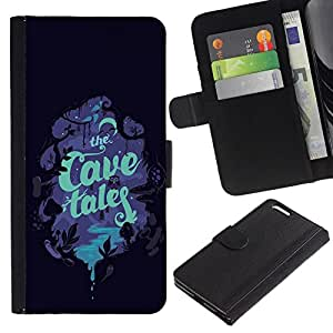 All Phone Most Case / Oferta Especial Cáscara Funda de cuero Monedero Cubierta de proteccion Caso / Wallet Case for Apple Iphone 6 PLUS 5.5 // Children'S Book Cover Read Tales Night