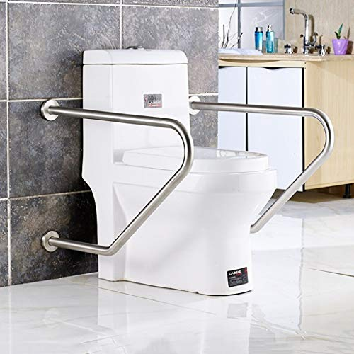 Bathroom Toilet Grab Bar Stainless Steel, Shower aids Accessibility Safety Handrails, Bathtub Arm Grips for Elderly Disabled Pregnant Women -GXFC Shop (2piece)