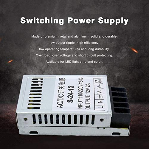 Universal AC to DC Switching Power Supply 12V 2A 24W Portable Ultra-Thin LED Light Driver Input 110V/220V S-24-12 Bocciday