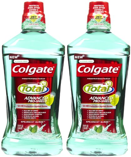 Colgate Total Advanced Pro-Shield Mouthwash, Spearmint Surge – 33.8 oz – 2 pk