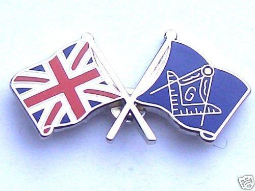 Maç onnique Freemasonary et blason Union Jack-Gifts É pinglette é maillé e Emblems-Gifts