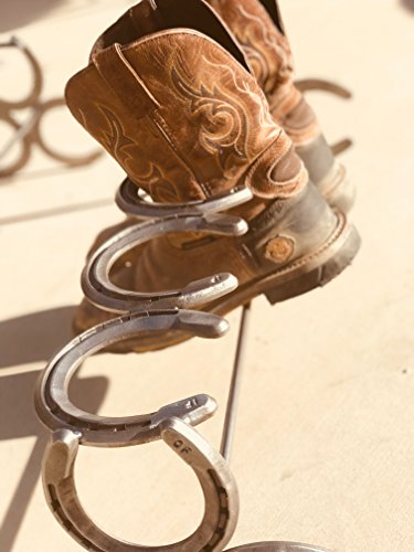 Handmade-Horseshoe-Boot-Rack-3-pairs-The-Heritage-Forge