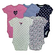 Carters Baby Girls 5 Pack Bodysuits (Baby) - Wild About Daddy-3M