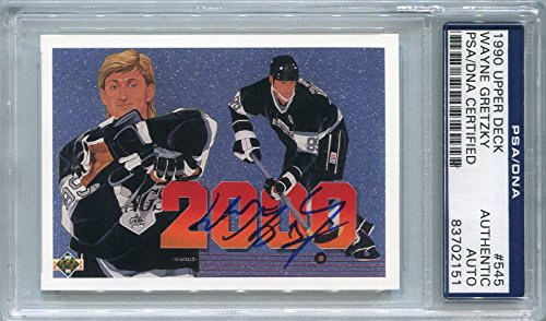 (Wayne Gretzky Los Angeles Kings PSA/DNA Certified Authentic Autograph - 1990 Upper Deck (Autographed Hockey Cards))