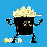 """""""Pop Corn Kingdom"""" Space Movie Parody w/ Popcorn & Sword - Vinyl Sticker"""