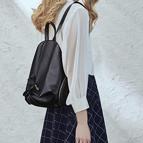 Con Per Shopping Black Cerniera Il Tracolla Libero Triangolare Donna Borsa Antrygobin Tempo A txHYYR